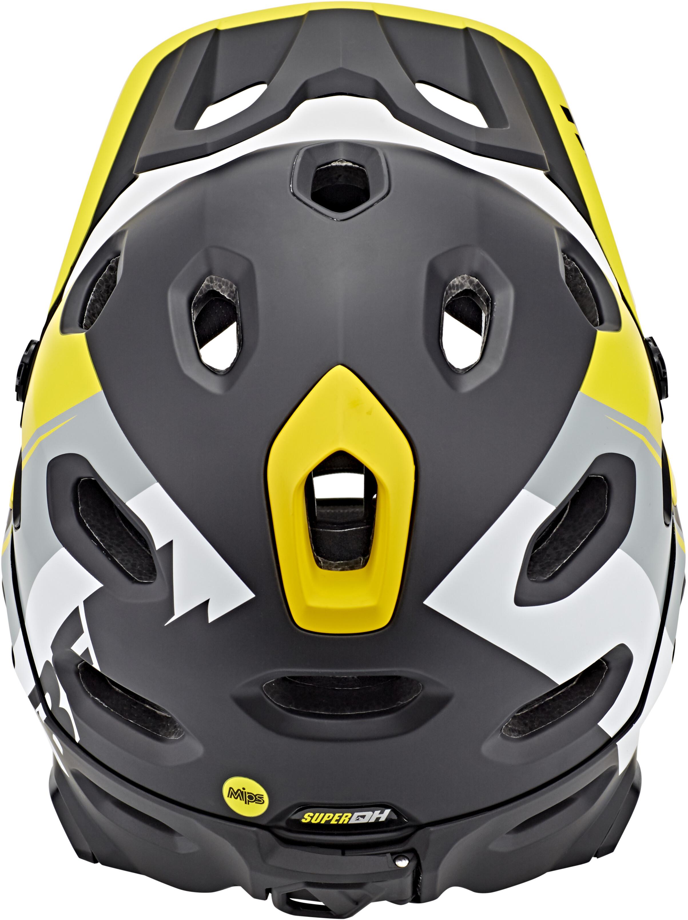 bell super dh mips mtb helmet yellow silver black online. Black Bedroom Furniture Sets. Home Design Ideas